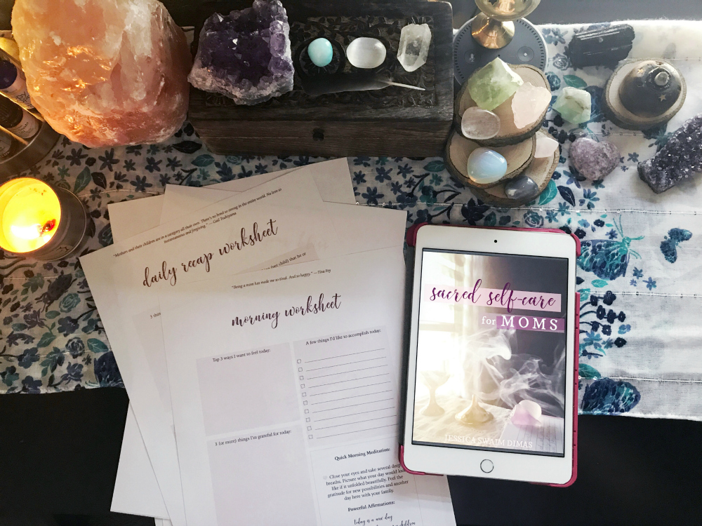 Sacred Self-Care Book and worksheets #selfcareformoms #selfcareworksheets #selfcaretips #selfcareroutine