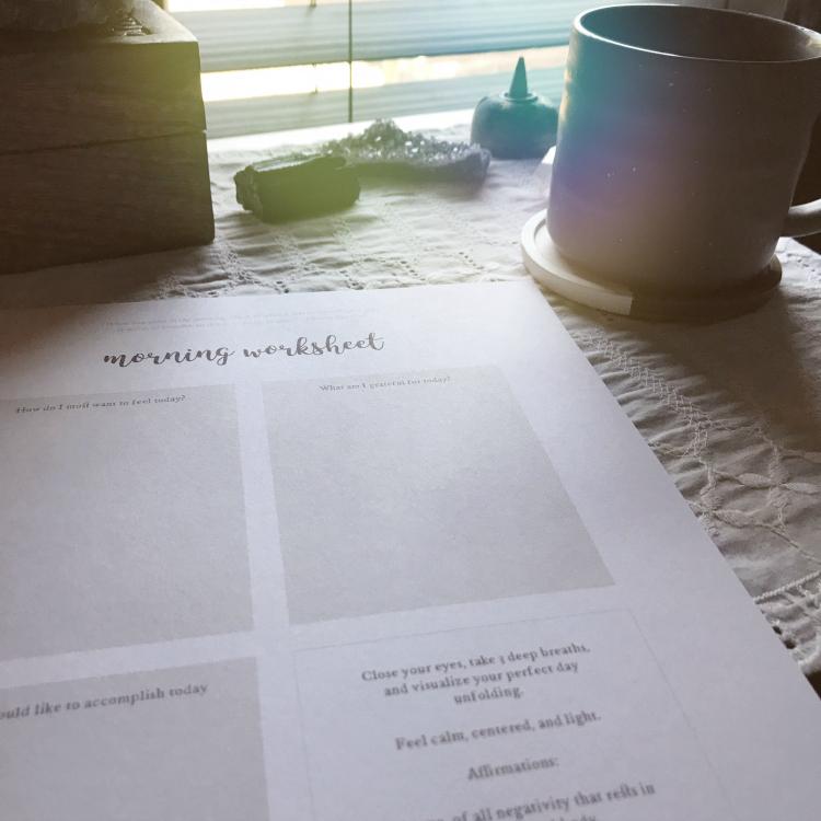 Morning Routine Worksheet