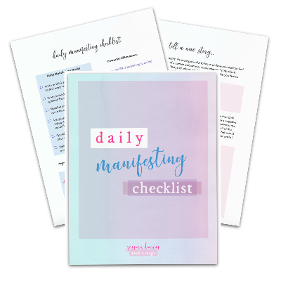 Daily manifesting checklist