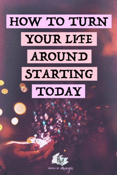If you've found yourself in a rut or you're just ready to change your life, here are 8 tips for getting started TODAY #manifesting #lawofattraction #selfcaretips #dwellinmagic