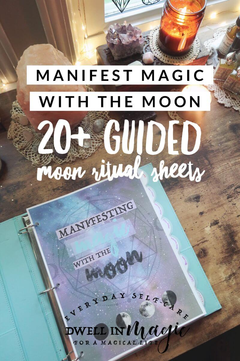 Full Moon Self-Care Ritual - Dwell in Magic - Moon Worksheets