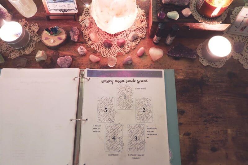 Tarot card spread is a form of a divination tool
