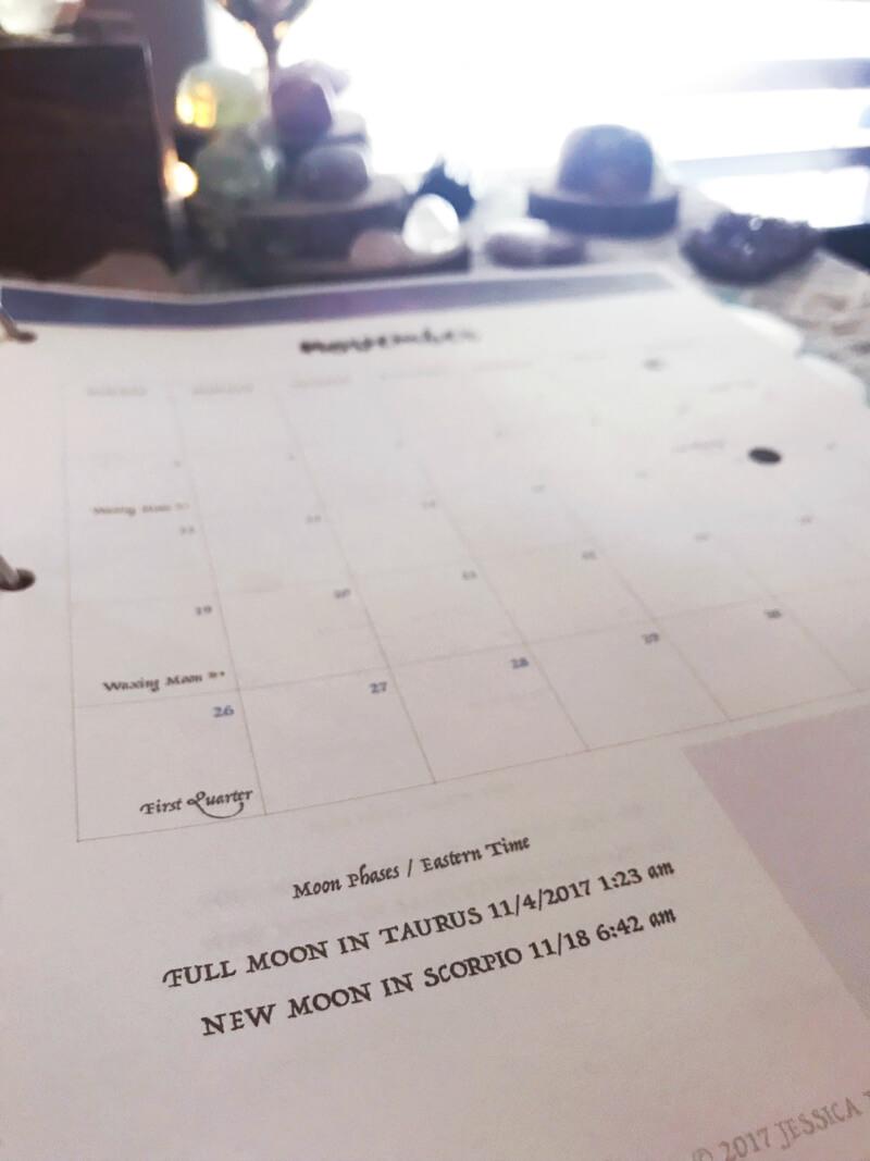 How I organize my Moon Binder #moonmagic #moonvibes #mooncalendar