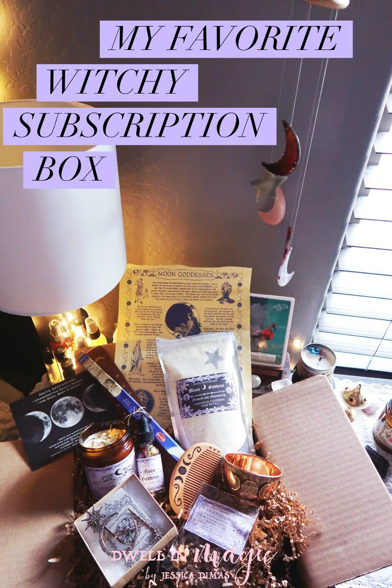 "My review of the Anita Apothecary subscription box for February, themed ""Moon Goddess"" #witchythings #witchybox #subscriptionbox #anitaapothecary #dwellinmagic #selfcareblogger"