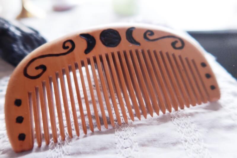 Anita Apothecary Wood burned hair comb