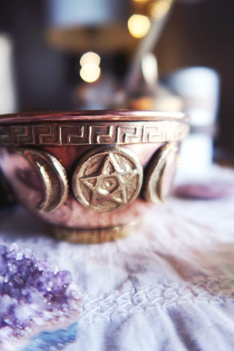 Triple goddess offering bowl