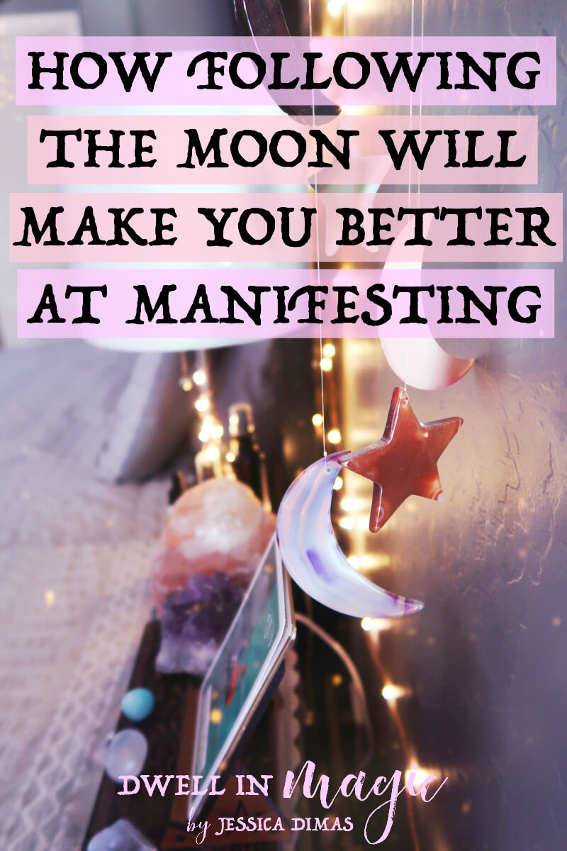 How the moon phases correlate to manifestation and how you can use them to help you manifest better #manifesting #lawofattraction #moonmagic #witchythings