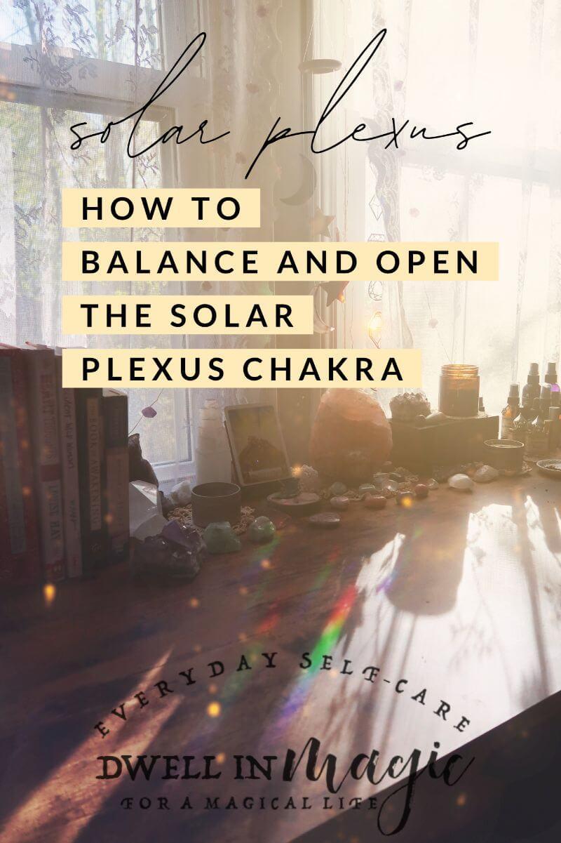 how to balance the solar plexus chakra
