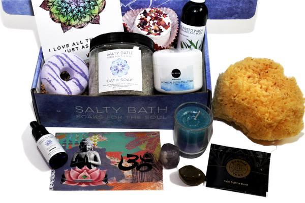 Salty bath self-care subscription box