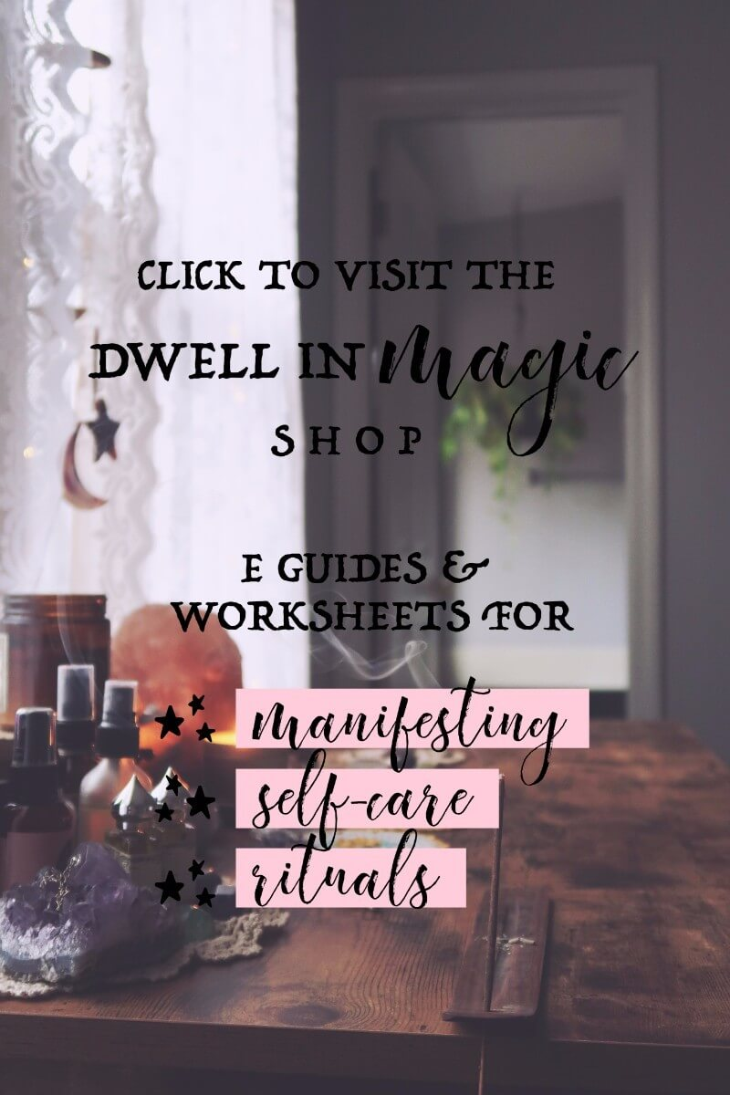 Dwell in Magic Shop - Self-Care worksheets, Law of attraction worksheets, moon ritual worksheets