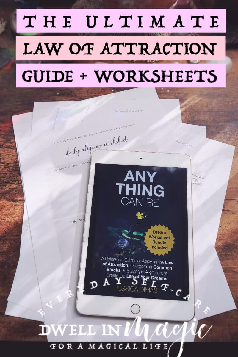 Law of attraction guide and worksheet bundle