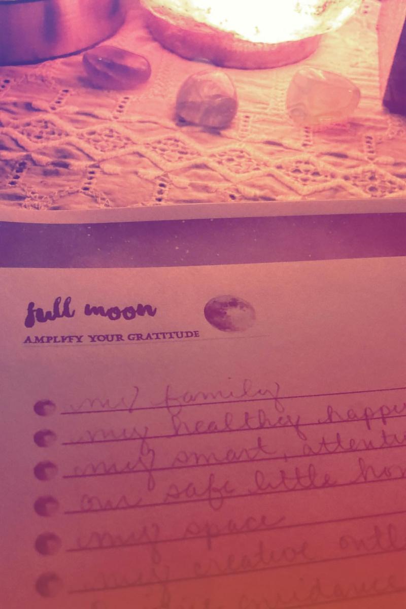 full moon appreciation list