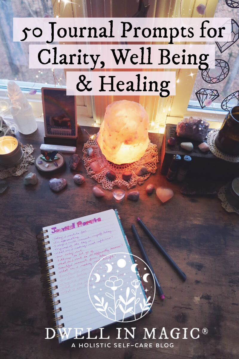 Journal prompts for clarity, well being and healing