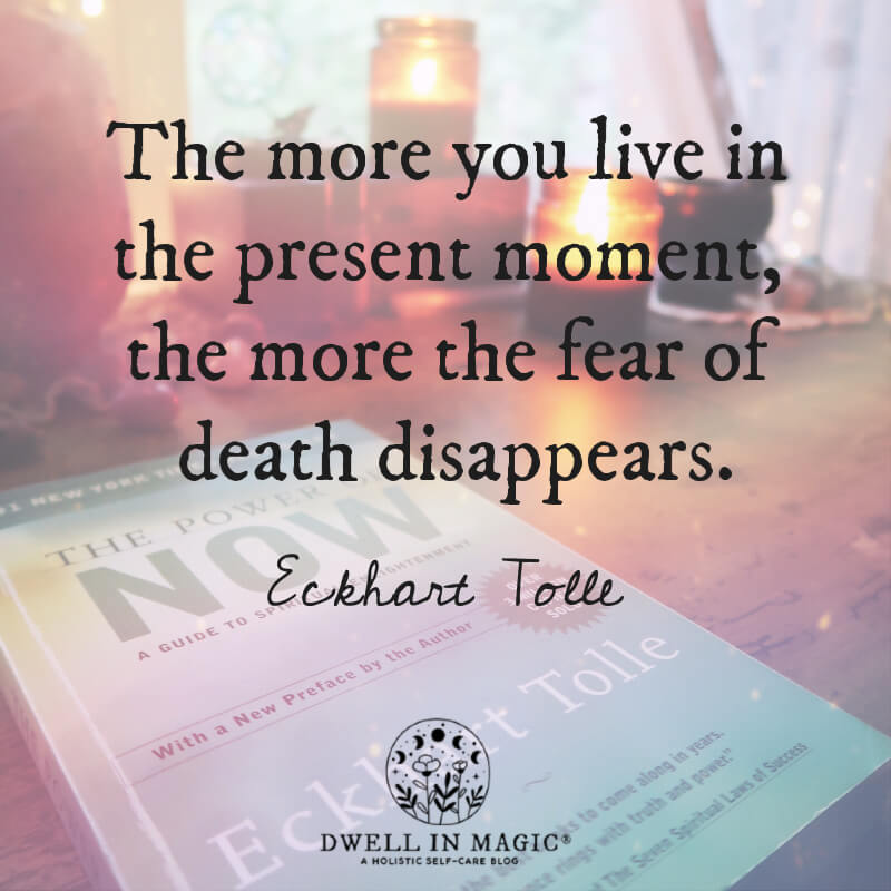 The more you live in the present moment Eckhart Tolle