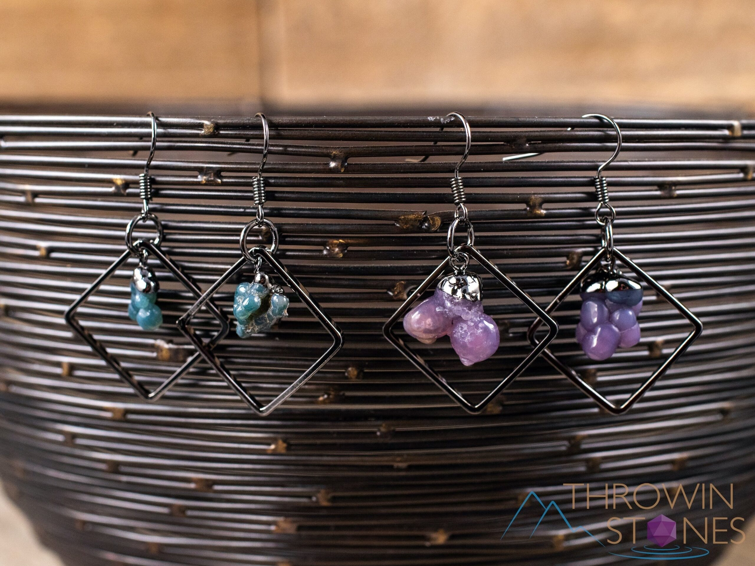 Raw stone healing earrings