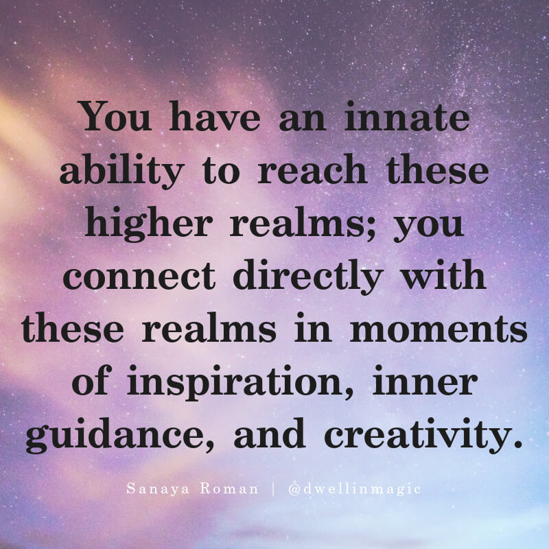Messages from spirit guides come through creative endeavors and moments of inspiration