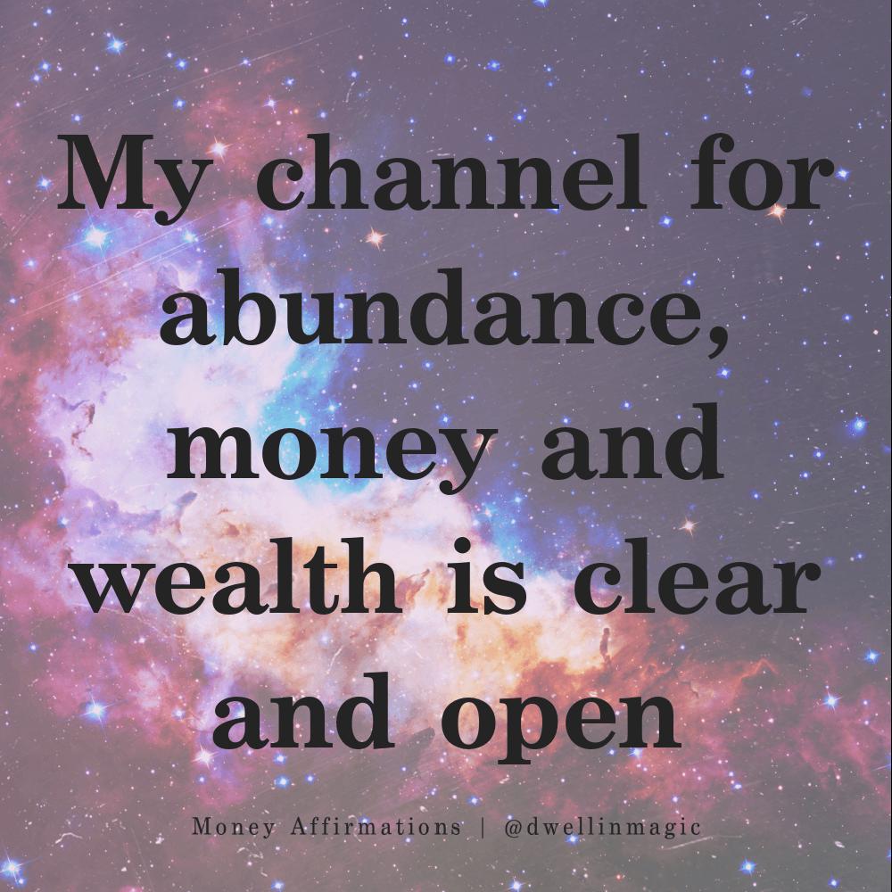 money affirmations channel for abundance