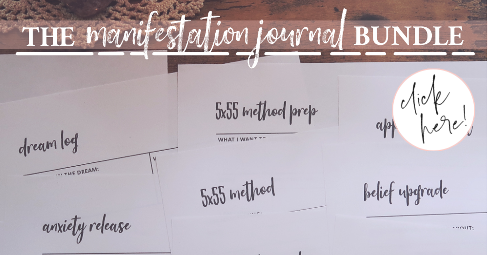 Manifestation Journal prompts and print outs