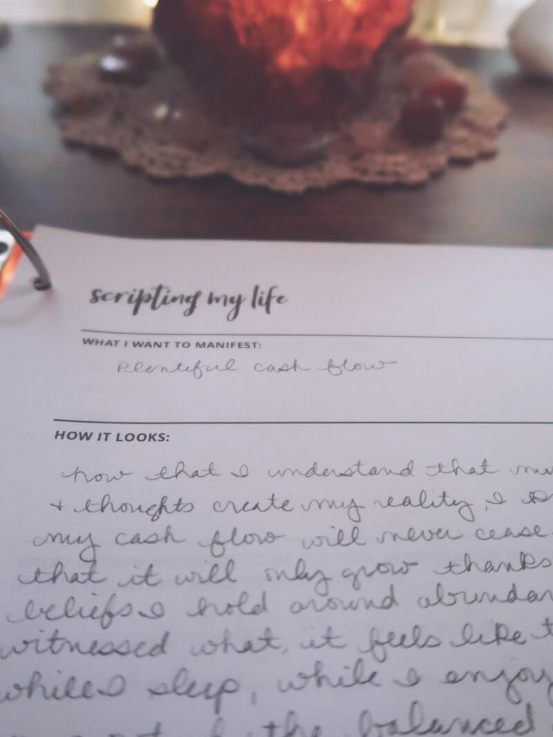 Manifesting journal prompt scripting your life
