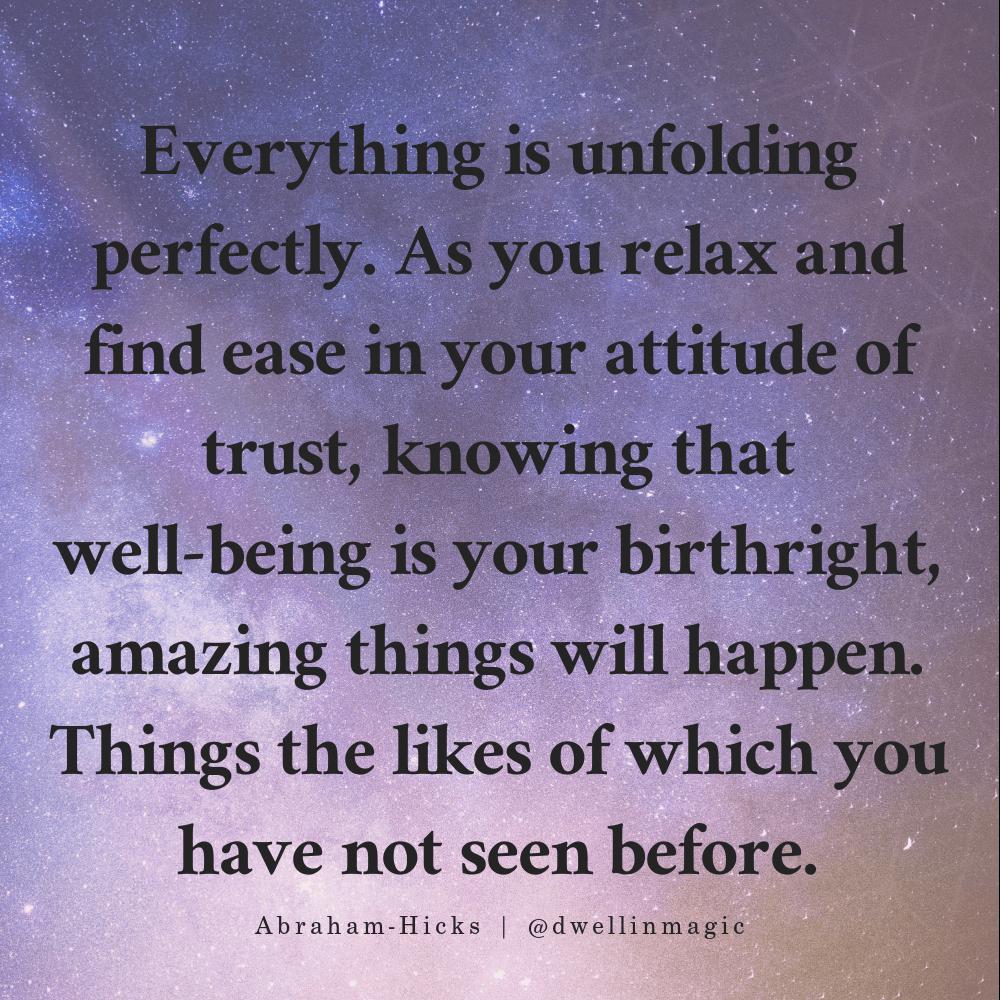 trusting quote abraham hicks